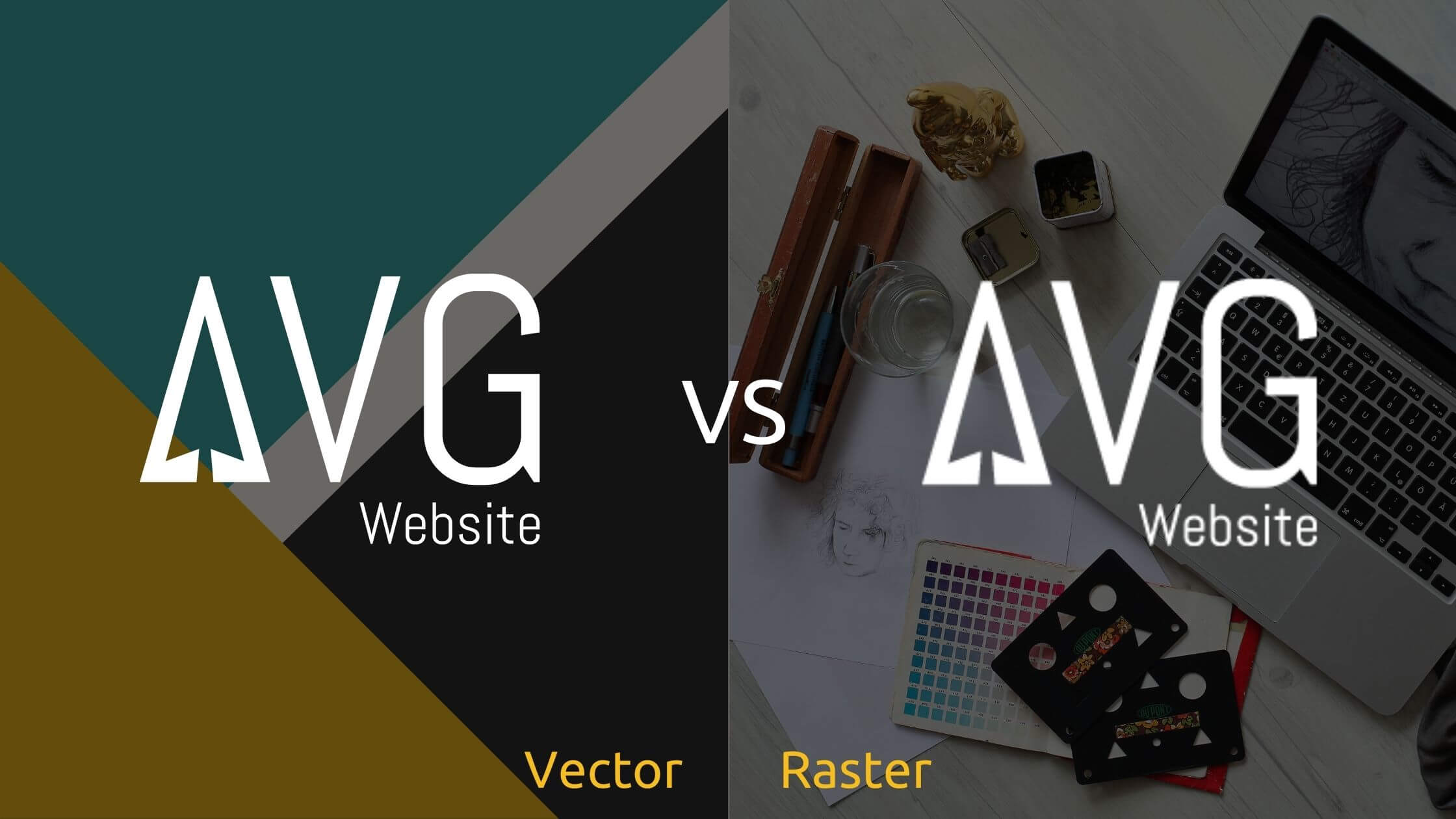 What's the difference between vector graphics and raster graphics? - Header Image