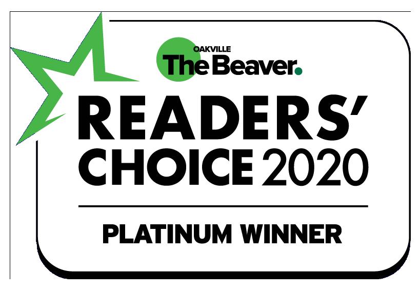 Oakville Readers' Choice Award - Platinum Winner